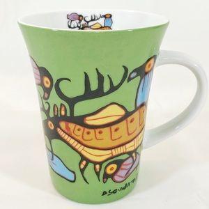 "💙2/$20💙 Aboriginal Art Mug ""Moose Harmony"""